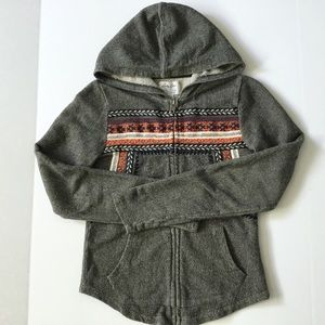 Lucky Brand Lucky Lotus Zip Up Hoodie